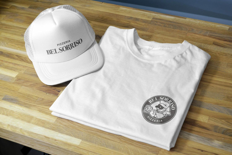 Pizzeria Bel Sorriso Tshirt and Cap